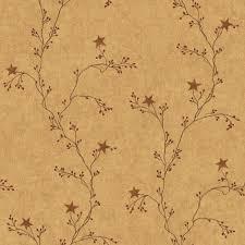 star berry vine wallpaper mustard sturbridge yankee workshop