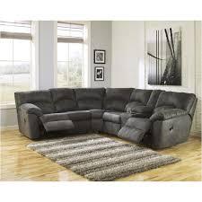 Ashley Furniture Microfiber Loveseat 2780149 Ashley Furniture Tambo Pewter Raf Reclining Loveseat