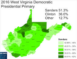 County Map West Virginia by The West Virginia Democratic Primary Protest Vote And Bernie