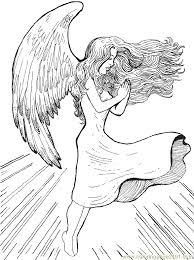 18 angel color page printable christmas angel coloring pages