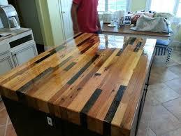 wood kitchen island solid wood top kitchen island cart naindien with decor 0