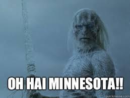 White Walker Meme - oh hai minnesota agitated white walkers quickmeme
