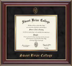 diploma frames diploma frames sweet briar college the book shop