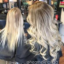 Hair Extensions Long Beach Ca by Rooted Platinum Blonde Balayage With Tape In Extensions Curled