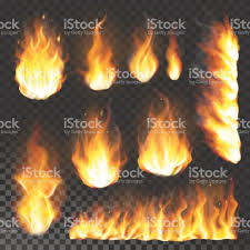 realistic 3d fire flame flare blaze burning vector illustration on