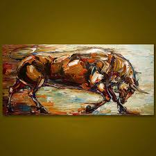 decor painting unframed strong bull hand painted oil painting wall art canvas