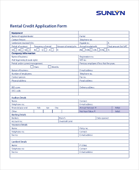 11 sample credit application forms free sample example format