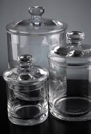 clear glass canisters for kitchen set of 3 clear glass apothecary canister jars 5 7 9 glass