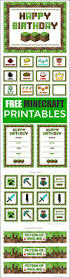 minecraft party invites free minecraft printables catch my party