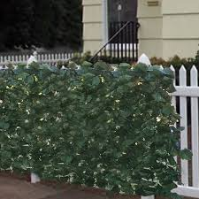 faux privacy fence screen 94 x 59 artificial hedge fencing
