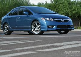09 honda civic rims 2009 honda civic with 18 enkei ls 5 in chrome luxury sport