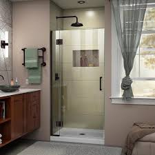 34 Shower Door Shop Dreamline Unidoor X 34 In To 34 In W Frameless Rubbed