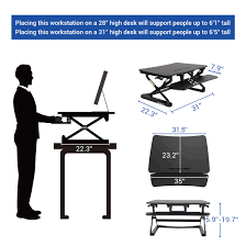 Electric Sit To Stand Desk by Standing Desk Converters Classicriser 35