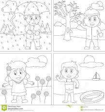awesome seasons coloring pages printable images printable