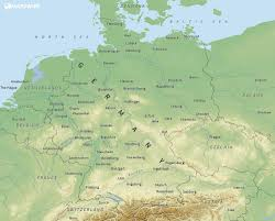 geographical map of germany free maps of germany mapswire