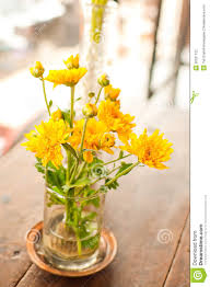Flower Home Decoration by Yellow Decoration Flower Stock Photography Image 35531122