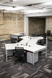 contemporary open floor plans modern industrial open floor plan desks ambience doré