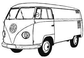 coloring page van