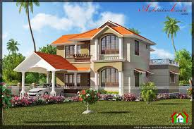 2500 sq ft four bedroom house with pooja room architecture kerala 2500 sq ft slope roof kerala house