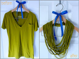 shirt necklace tutorial images How to make easy no sew t shirt necklace how to instructions png