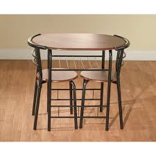 Space Saver Dining Set Table Four Chairs 3 Bistro Set Table 2 Chairs Dinette Black Space Saver Dining