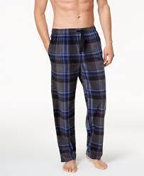 perry ellis s plaid fleece pajama pajamas lounge