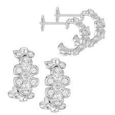 chaumet earrings chaumet hortensia white gold and diamond hoop earrings hartfield