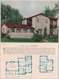 revival home plans the el pardo 1929 home builders catalog the el pardo is a monterey