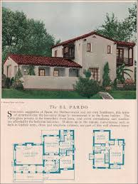 revival house plans the el pardo 1929 home builders catalog the el pardo is a monterey