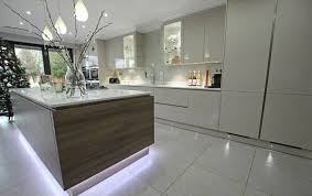 Led Strip Lights In Kitchen by Modern Kitchen Island With Led Strip Lights Underneath For