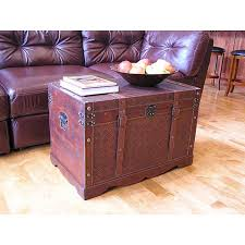 georgetown faux leather large wooden chest free shipping today