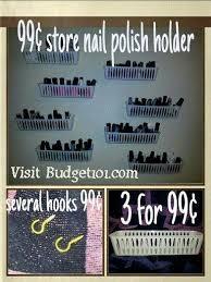99 cent store nail polish organizer organize diy budget101 com