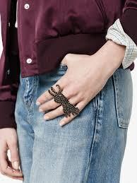 multi ring bracelet images Gucci tiger multi finger ring rings browns jpg