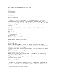 Effective Cover Letter For Resume by How To Write Cover Letter For Resume My Document Blog