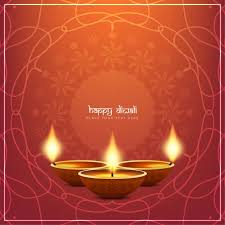 background with ornaments for diwali vector free