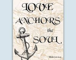 Love Anchors The Soul Print - anchor decor nautical art anchor print anchor art