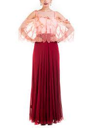 coloured dress anushree agarwal wine coloured dress with cape shop