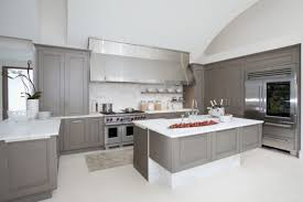 Gray Cabinets Kitchen Kitchen With Grey Cabinets And Large Range Hood Selecting The