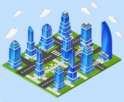 bureau urbanisme bureau urbanisme centre industrie image vectorielle macrovector