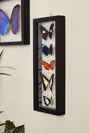 earthbound home decor five butterflies in black frame earthbound trading co