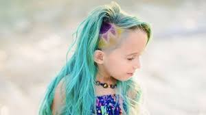this 6 year old u0027s unicorn hair is stirring up the strangest reactions