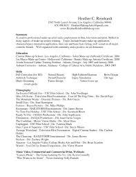 Character Resume Template Sample Of Makeup Artist Resume Cv Template Cover Letter Peppapp