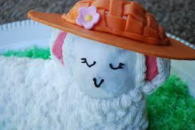 Easter Bonnet Cake Decorating by Easter Lamb Cake Recipe For Beginners Merriment Design