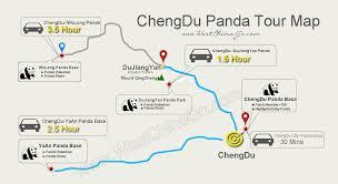 Pandas Map Tour Group Charter Car From Chengdu To Mount Emei China Chengdu