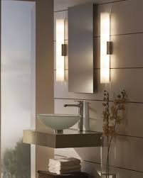 Light Sconces For Bathroom Bathroom Light Fixtures Chrome Wall Sconce Brushed Nickel