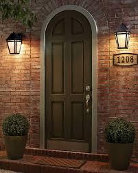 Front Door House Lights Flanking Front Door House Design