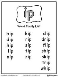 free word family worksheets word families pinterest