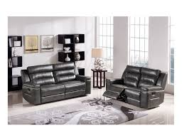 Power Reclining Sofa Set Duncan Power Reclining Sofa Set In Slate Grey Leatherette Shop
