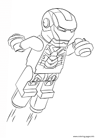 lego iron man coloring pages printable