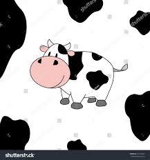 cute cow cartoon stock vector 221972827 shutterstock